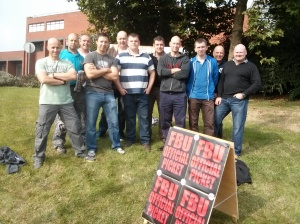 On the picket line at Radford