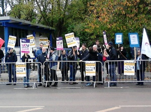 Picket at University of Warwick