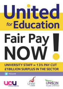 UCU, Unite and Unison will be taking action
