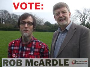 Rob McArdle with Dave Nellist
