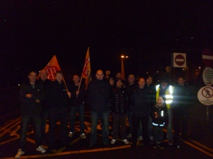 FBU members on the picket line at Radford Fire Station