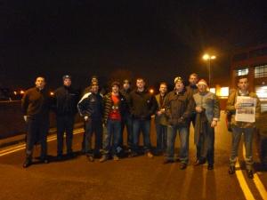 FBU members on the picket line at Radford