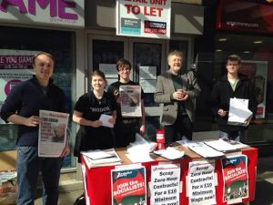 Campaigning for a £10 an hour Minimum Wage