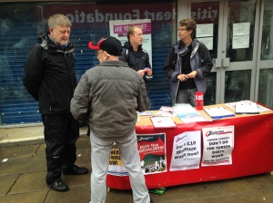 Dave Nellist and the Socialist Party continue campaigning against austerity