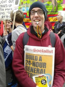 TUSC campaigner Rob McArdle