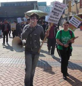 Coventry Socialist Party members on youth demo