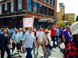 Dave Nellist and other members of the Socialist Party were out on the demo