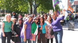 Unison members from John Gulson Primary School