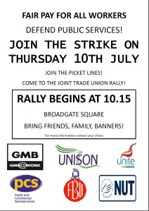 Strike rally