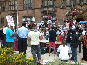 Protest in Coventry