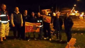 Picket line in Foleshill