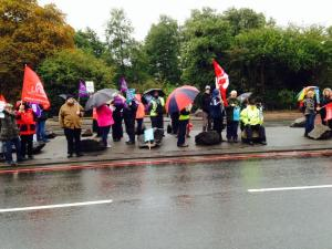 Walsgrave Hospital Picket