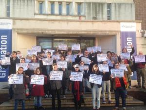 Socialist Students national conference showing solidarity with Warwick students
