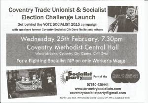 TUSC election launch