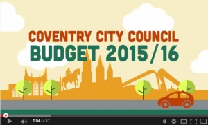 The opening to Coventry Council's budget video