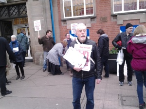 Trade Unionist and Socialist Coalition activist Jason Toynbee on the protest