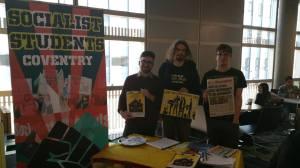 Socialist Students stall at Cov Uni Refreshers
