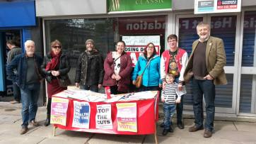 TUSC candidates campaigning in Coventry