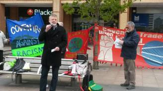 Dave speaking at Coventry's May Day rally