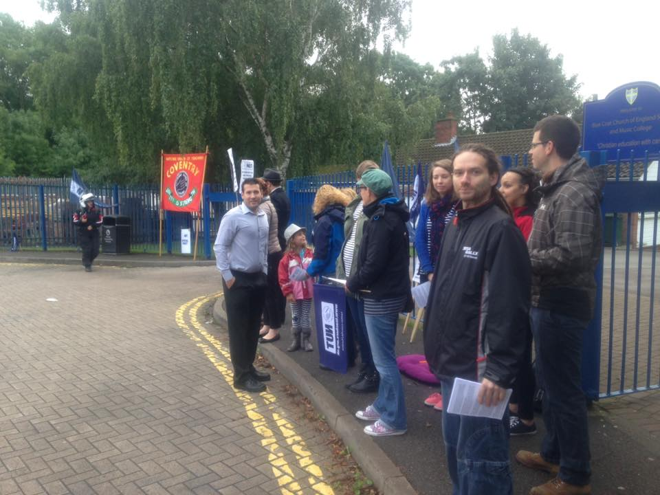 Blue Coat School Strike – report & pictures from the picket