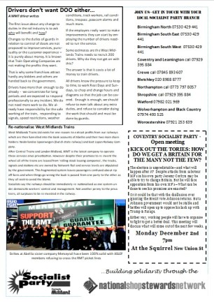 West Midlands RMT bulletin - 3b November 2019